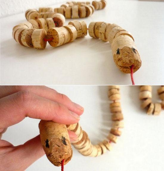 Juguete serpiente articulada