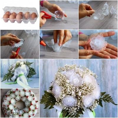 Cartones de huevos para hacer flores
